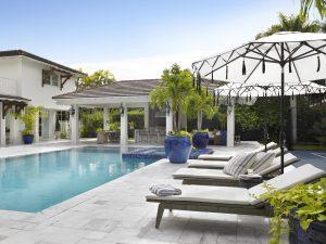 Pinecrest Florida Interior Design Exterior Poolside Decor