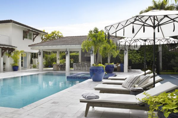 Pinecrest Florida Interior Design Exterior Poolside Decor