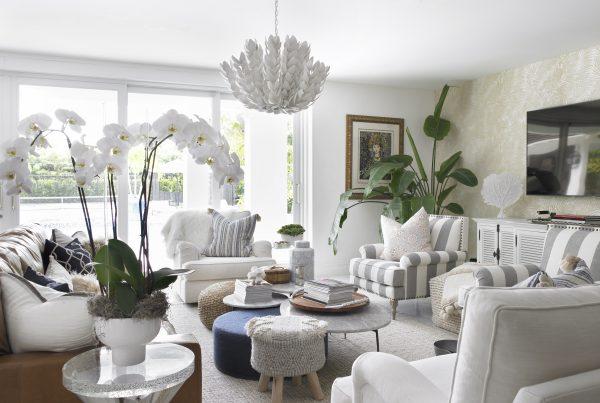Pinecrest Florida Interior Design Living Room Space